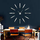 Big Time Frameless DIY Wall Clock 3D Mirror Wall Clock Large Mute Wall Stickers