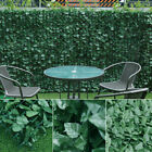 Artificial Leaf Rail Fencing Screening Roll Ivy Fence Panel Green Hedge Garden
