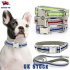 Safety Nylon Dog Reflective Personalized Puppy Small Large Dogs Collar  Leash UK