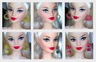 Barbie Dreamz RED, GOLD or SILVER SPARKLE Hoops Earrings Doll Jewelry 6 STYLES!