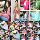 Kyпить Women Ruffle Chiffon Long Sleeve Scarf Shawl Tops Solid Color Summer Sunscreen на еВаy.соm