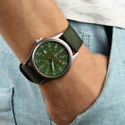 Men's Army Military Date Canvas Band Stainless Steel Sports Quartz Wrist Watches image