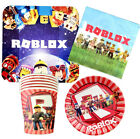 ROBLOX CUP PLATE NAPKINS TABLE COVER BALLOON BANNER DECORATION SUPPLIES TOPPER