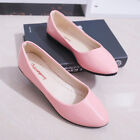 Womens Flat Pumps Glitter Ladies Ballet Ballerina Plain Slip On Dolly Shoes UK