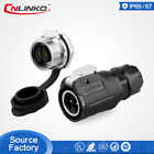 M16 2 Pin 3 Pin 5A Electrical Power Connector For Medical Equipment Waterproof