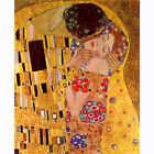 HD Canvas Painted Oil Painting Wall Decor The Kiss by Gustav Klimt Multi Sizes