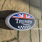 TRIUMPH MOTORBIKE LOGO LED LIGHT SIGN PETROL GARAGE CAR ADVERTISING BONNEVILLE $111.36 AUD on eBay
