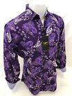 Mens PREMIERE Long Sleeve Button Down Dress Shirt PURPLE PAISLEY DESIGNER 627