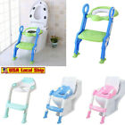Kids Toilet Seat Ladder Baby Toddler Potty Training Step Trainer Non Slip Safety image