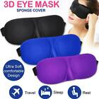 3d eye mask sleep travel rest plane sponge cover blackout soft padded sleep aid