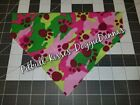 DOG BANDANA Over Collar XS-L PINK & GREEN CAMO PAWPRINTS *OR SCRUNCHIE* Closeout
