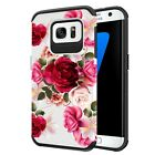 Red Floral Rubber Phone Case For Galaxy Note 9 8 5 4 S6 S7 S8 S9 Plus