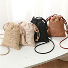 Fashion Women Beach Tote Handbag Ladies Rattan Straw Wicker Crossbody Bag Basket