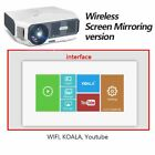 Mini LED Projector 1280x720P 3800 Lumen Mirroring Screen For 1080P Video Beamer