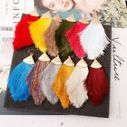 Chunky Women Bohemian Long Tassel Earrings Boho Hook Drop Dangle Fringe Jewelry image
