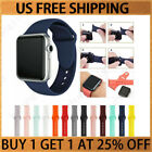 Silicone Band Strap For Apple Watch iWatch Sports Series 1/2/3/4/5 38/42/40/44mm image
