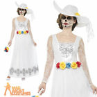 Adult Day of the Dead Skeleton Bride Costume Halloween Ladies Fancy Dress Outfit