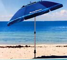 Tommy Bahama 2M Sand Anchor Beach Umbrella Tilt Outdoor Sun Shade New