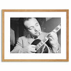Music Vintage Photo Legend Guitar Player Django Reinhardt Framed Print 9x7 Inch