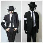 MJ Michael Jackson Billie Jean Black Jacket and Pants Cosplay Costume FF.120