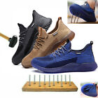 MENS WOMEN STEEL TOE CAP SAFETY TRAINERS WORK BOOTS HIKING SHOES BREATHABLE SIZE