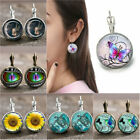 1 pair Dragon's Eye Bronze Trendy Glass cabochon 18 MM Lever Back Earrings image