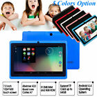 """7"""" Google Android 4.4 WiFi Tablet PC Quad Core 8GB Dual Camera Kids Child Y2D3Z"""