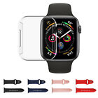 For Apple Watch Series 4 40/44mm Sport Silicone Strap Band+Case+Screen Protector
