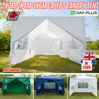 Gazebo Marquee Party Tent With Sides Garden Patio Outdoor BBQ Canopy 3x3/4/6M UK