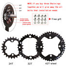 104bcd 64bcd 24/26/32/38/42T Double/Triple Speed Chainring MTB Bike Crankset