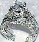 Kyпить 4CT Princess cut Diamond Engagement Ring Wedding Set 14k White Gold Platinum на еВаy.соm