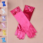 Long Wedding Gloves Flower Girls Child Satin Gloves Bow First Communion30x8cm