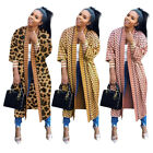 Women Long Sleeves Printed Casual Club Party OL Long Cardigan Coat Tops