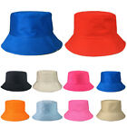 Mens Womens Solid Bucket Hat Cotton Fishing Hunting Summer Travel Outdoor Caps