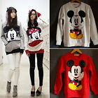 Women's Mickey Minnie Mouse Hoodies Sweatshirts Pullover Jumper Casual Sweater