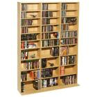Multimedia Storage Cabinet Tower DVD CD Rack Shelf Organizer Media Book Stand