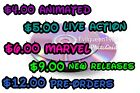 *Disney/Marvel* DVD's - US version - Multiple Titles (Disc's only) FREE SHIPPING