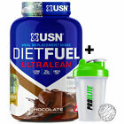 USN Diet Fuel Ultralean 2Kg Meal Replacement Weight Loss Protein Shake + Shaker