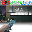 Large LED Digital Wall Clock Remote Alarm Watch Timer Countdown Thermometer Home