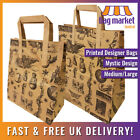 Brown Printed 'Mystic' Kraft Paper Carrier Bags | Medium/Large | Gift/Boutique