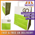 Medium White Printed 'GO' Kraft Paper Carrier Bags | 8