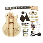 Coban Guitars DIY Kits LP710 Mahogany Body Spalted Maple Veneer Chrome
