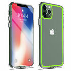 For iPhone 11 Pro Max Hard Clear Case TPU Bumper Shockproof + Screen Protector