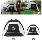 1M/3M Foldable Golf Driving Cage Practice Hitting Net Indoor Outdoor Trainer