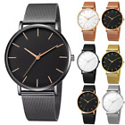 Luxury Men's Watches Quartz Stainless Steel Analog Sports Mesh Wrist Watch Gift image