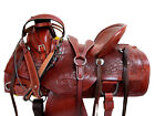 RANCH WORK ROPING HARD SEAT WESTERN SADDLE 16 17 15 HORSE TRAIL TOOLED PACKAGE