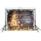 Christmas Photography Backdrop Wood Wall Snowflake Gold Glitter Photo Background