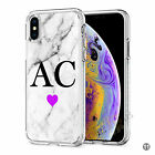 Initials Phone Case Personalised Marble Hard Cover For Apple iphone X 11 046-11