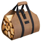 Canvas Log Carrier Bag Waxed Durable Wood Tote Fireplace Stove Firewood Holder