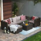 Rattan Garden Furniture Set Chairs Sofa Table Outdoor Patio Wicker 1/2/4/5 Seats